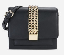 K/Chain Closure Mini Crossbody Bag