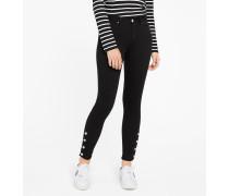 Skinny fit-Jeans mit Knöpfen