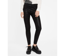 Leder-Leggings