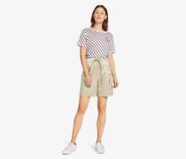 Shorts in Metallic-Optik mit Tunnelzug