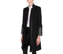 Maskulin geschnittener Mantel mit Reißverschlüssen