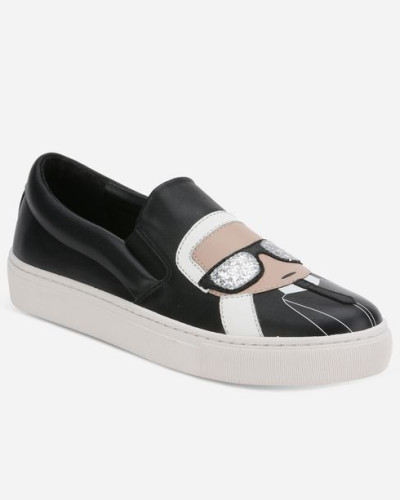 Karl Lagerfeld Damen KUPSOLE Karl kultige Slip-on-Sneakers CARRY OVER