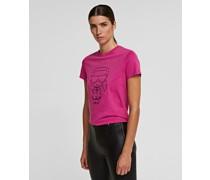 K/ikonik T-shirt mit Metallic-Silhouette