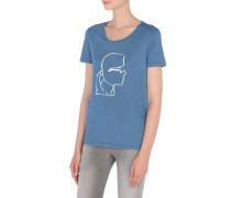 KARL T-Shirt mit skizziertem Kopf
