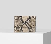 K/ikon mittelgroße Brieftasche In Schlangenleder-optik