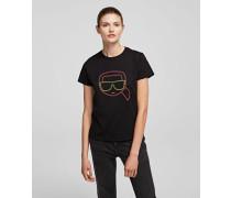 K/ikonik T-shirt mit Neon-Silhouette