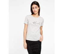 Ikonik Karl Signature T-Shirt mit Folienprint