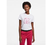 T-shirt mit Orchideenprint