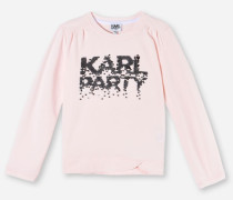 T-SHIRT KARL PARTY MIT PAILLETTEN
