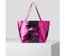 K/ikonik Metallic-crinkle-tote Bag