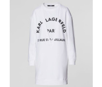 Mehrlagiges Sweatshirtkleid mit V-ausschnitt