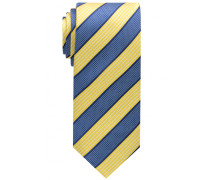 Krawatte Gelb/blau Gestreift