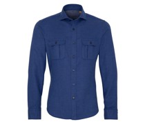 LANGARM HEMD SLIM FIT UPCYCLING SHIRT DOPPELGEWEBE