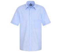 Comfort Fit Uni Popeline Kurzarmhemd hellblau