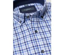 Langarm Hemd Modern FIT Flanell blau kariert