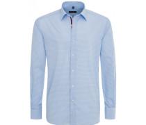 Modern FIT Langarmhemd Hellblau Getupft