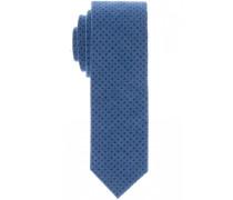 Seidenkrawatte Blau Gepunktet 6 cm