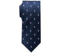 Krawatte Flieder/lila Gemustert