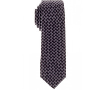 Krawatte Schwarz/beere 6 cm