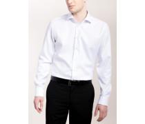 Slim FIT Langarmhemd Weiss