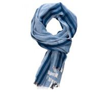 Baumwoll/Viskose Schal für Herren blau gestreift
