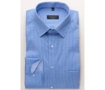 Comfort FIT Langarmhemd Blau Bedruckt
