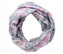 Loop-Schal rosa/grau gemustert aus Baumwolle und Seide