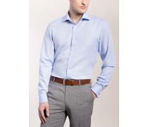 Slim FIT Langarmhemd MIT Umschlagmanschette Hellblau
