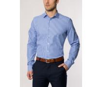 Slim FIT Langarmhemd blau-weiss gestreift