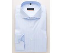 Slim FIT Langarmhemd Hellblau Gestreift