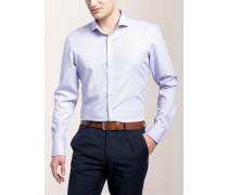 Slim FIT Premium Langarmhemd flieder strukturiert