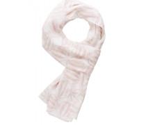 Damenschal mit Print rosa/weiss