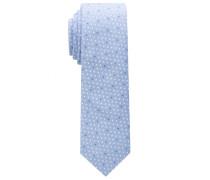 Krawatte Hellblau/weiss Bedruckt