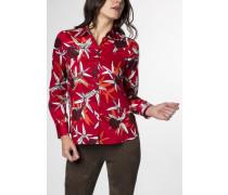Langarm Bluse Comfort FIT rot bedruckt