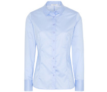 LANGARM BLUSE MODERN CLASSIC SLIM FIT COVER SHIRT TWILL HELL