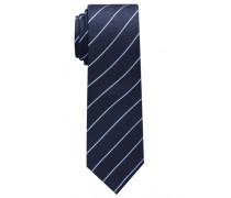 Krawatte Marineblau/hellblau Gestreift