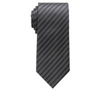 Krawatte Grau/schwarz Gestreift