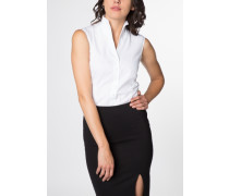 ohne Arm Bluse Comfort FIT weiss unifarben