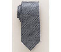 Seidenkrawatte grau gemustert 7,5 cm