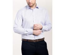 Modern FIT Premium Langarmhemd rosé/blau kariert