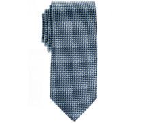 Seidenkrawatte Grün-Blau Gemustert 7,5 cm