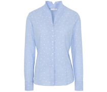 LANGARM BLUSE MODERN CLASSIC FIL COUPÉ HELL/WEISS