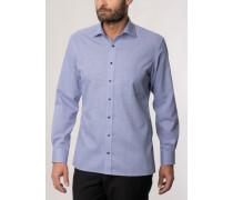 Modern FIT Langarmhemd blau strukturiert