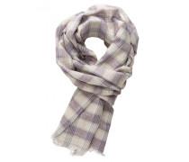 Baumwoll-Schal für Herren beige kariert