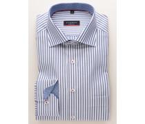 Modern FIT Langarmhemd blau/weiss gestreift
