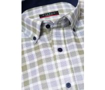 Kurzarm Hemd Modern FIT Oxford Grün/blau Kariert
