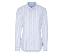 LANGARM BLUSE MODERN CLASSIC UPCYCLING SHIRT OXFORD HELL/WEISS