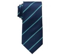 Seidenkrawatte dunkelblau gestreift 7,5cm