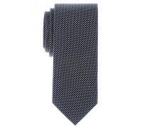 Seidenkrawatte Blau Gemustert 7,5 cm