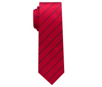 Krawatte Rot/ Marine Blau Gestreift
